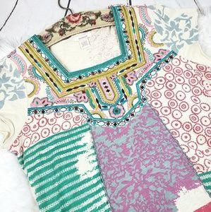Sundance Boho Embroidered patchwork cotton top